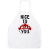 Nice to meat you the grill master apron gift for dad for father's day