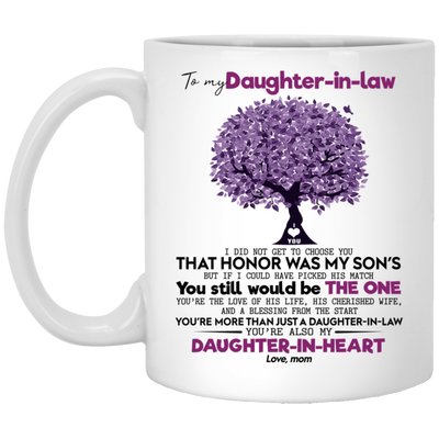 To my daughter-in-law, Gift For daughter in law, Mug for daughter in law , White/black coffee mug, All Size Mug, Mother's Gift, Mother day's gift