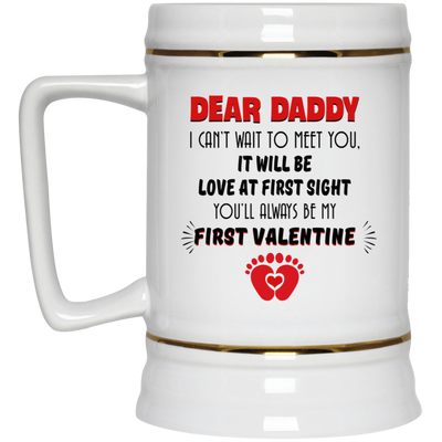 I Can't Wait To Meet You It Will Be Love At First Sight Mug Gift For Husband