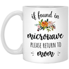 Gift For Mom If Found In Microwave Please Return To Mom Mug