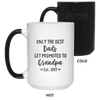 Best Dad Promoted To Grandpa - Fathers Day Mugs