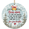 I Love You Mom Ornament Gift For Mom