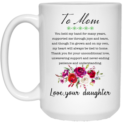 You Held My Hands For Many Year Mug Gift For Mom