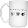 I'm A Simple Woman Flip Flop Sunflower Dog Mug