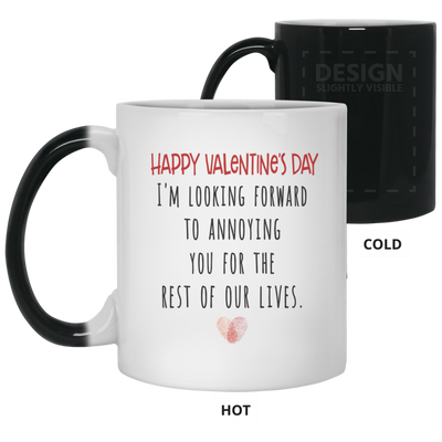 Famth HAPPY VALENTINE'S DAY, Gift For Valentine's Day,Mug for Valentine day, gifts for couples, Mug for husband , White/black coffee mug, All Size Mug