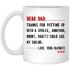Dear dad gift - best camping coffee mug for dad - famt gifts for dad gift for father coffee mug special gift for him all size mug color changing mug