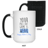 Your Pull Out Game Is Weak Af Father's Day Mug Funny Gift For Husband