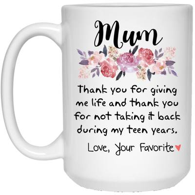 MUM, THANK YOU FOR GIVING ME LIFE - FAMTH