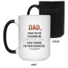 Dad Thank For Teaching Me How To Be A Man Mug Gift For Dad
