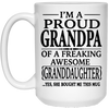 Proud Grandpa Of A Awesome Granddaughter Mug Gift For Grandpa