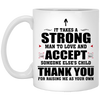 Thank You For Raising Me As Your Own White Mug Gift For Stepdad