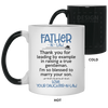 Thank You For Leading By Example In Raising A True Gentleman Mug Gift For Dad