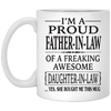 I'm proud father-in-law - famth gifts for dad gift for father coffee mug special gift for him
