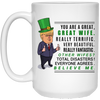 You Are A Great Wife Trump Mug St Patrick's Day Gift For Wife