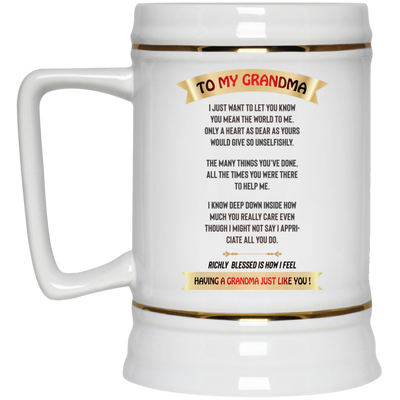 To My Grandma Mug Gift For Grandmother