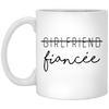 Fiancee gift mug,mug for fiancee , White/black coffee mug, All Size Mug, Gift For fiancee,fiancee gifts