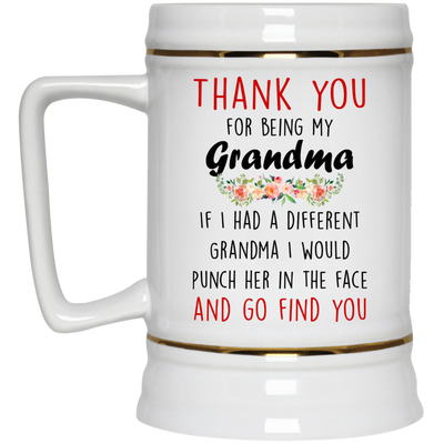 Thank You For Being My Grandma Mug Gift For Grandmother