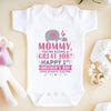 Happy Mothers Day Elephant Onesie Baby Gift