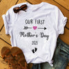 My First Mother's Day T-shirt Gift For Mommy To Be