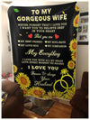 Famh - my gorgeous wife my everything blanket