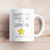 Personalized Happy 1st Father's Day As My Grandpa Mug - New Grandpa Mug