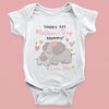 G1 Personalized Happy Mothers Day Elephant Onesie Baby Gift