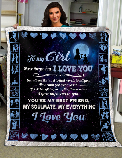 Famh - to my girl never forget that i love you blanket