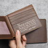 Personalized Wallet For Dad Gift From Son From Daughter Wallet