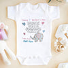 G3 Personalized happy mothers day elephant onesie baby gift