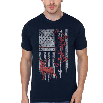 Hunting Dad With American Flag Shirt - Dad Shirt