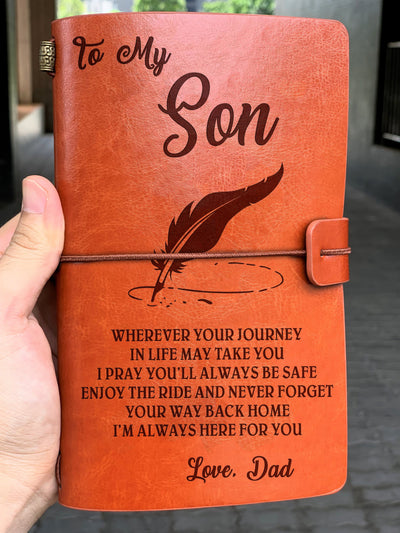 For son - enjoy the ride notebook, best notebook gift for son, gift for son