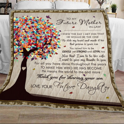 Famh - to my future mother-in-law thank you for sharing your son - quilt