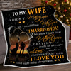 Htth - i love you wife - blanket - gift for wife gift for christmas christmas gift for wife