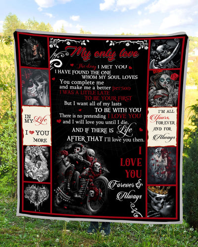 Ttbp - skull my only love i'm all yours forever and for always - blanket
