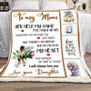 Ttbp - to my mom i will always love you - blanket - gift for mom gift for christmas