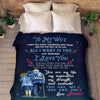 Famt - customize all i want is you - blanket - gift for wife gift for christmas