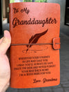 Famt - for granddaughter - enjoy the ride notebook