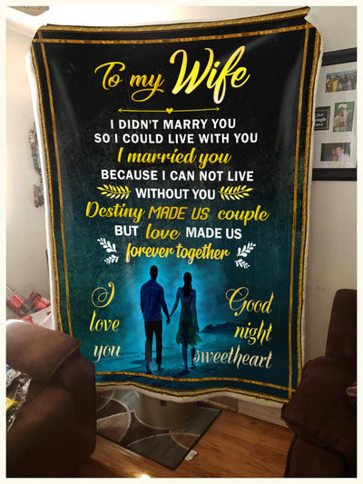 To My Wife Love Made Us Forever Together Blanket Gift For Wife