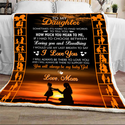 From mom how much you mean to me blanket - Gift for daughter