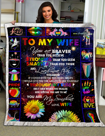 Tht - lgbt to my wife you are my sunshine - blanket