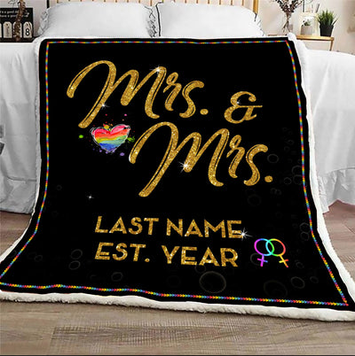 Famtht - wedding anniversary mrs. and mrs. - blanket