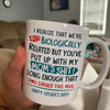 Gift For Step Dad Happy Father's Day Biologically Bonus Dad Mug