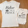 Mother of a king son of a queen mommy and me matching shirts mom and baby gift