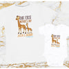 Personalized Our First Mother's Day Giraffe Shirts GST