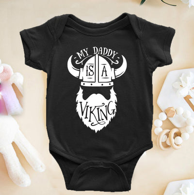 G1 My Daddy Is A Viking Onesie Toddler Shirt - Fathers Day Shirt