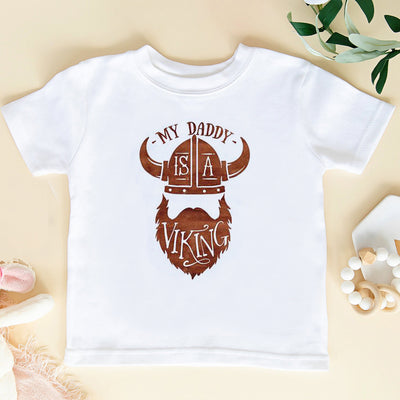 G2 My Daddy Is A Viking Onesie Toddler Shirt - Fathers Day Shirt