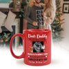 Personalized This Christmas I'll Be Snuggled Up In Mommy's Tummy Mug Christmas Gift For Expecting Dad