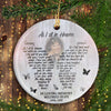 Personalized As I Sit In Heaven Round Ornament Memorial Gift