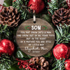 2020 Christmas Gift For Sons From Moms Ornament