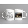 Personalized Baby Announcement Dear Daddy Sonogram Mug - Daddy Mugs